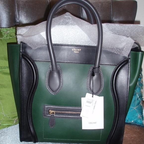 Celine tricolor Mini Luggage Tote. NWT 397d2ecf267c4